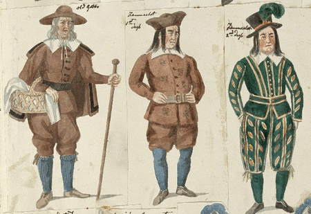 Costume design for Old Gobbo and Launcelot