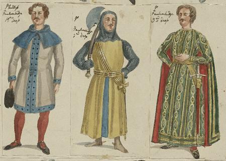 Costume designs for Philip Faulconbridge