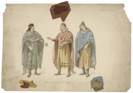 King Lear, costume sketches