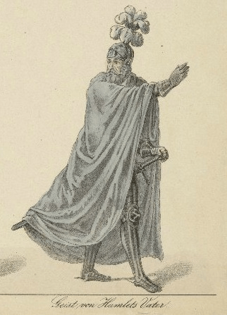 Costume design for Ghost of Hamlet's father