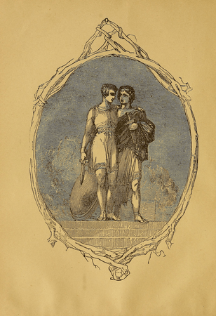 Illustration from American Book Company edition of The Two Noble Kinsmen