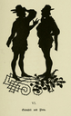 Falstaff and his companions. Twenty-one illustrations in silhouette