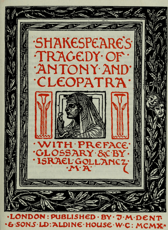 Frontpiece to the Temple Shakespeare edition of Antony and Cleopatra