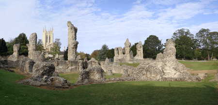 Remains of The Abbey at Bury St Edmunds