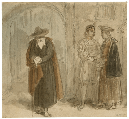 Rough drawings for scenes from Shakespeare