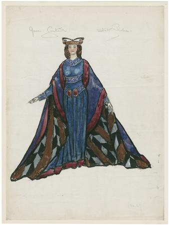 Costume design for Queen Gertrude