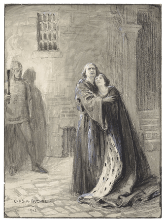 Lily Brayton and Herbert Beerbohm Tree in Richard II