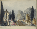 Scene designs, probably by Charles Marshall
