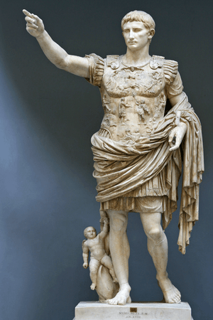 Augustus of Prima Porta, also known as Octavius Caesar