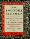 """Frontpiece for J. M. Dent and Co. edition of """"The Two Noble Kinsmen"""""""