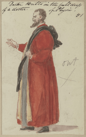 Costume design for Doctor Butts