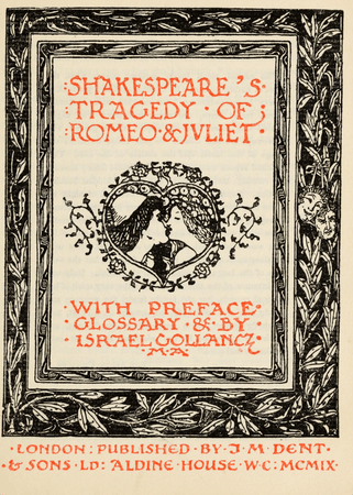 Frontpiece for Romeo and Juliet in The Temple Shakespeare