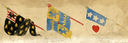 Banner designs for Glendower, Worcester, and Douglas