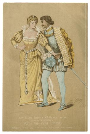 Ellen Terry & Henry Irving as Beatrice & Benedick