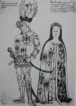 Sir Thomas Montacute, 4th Earl of Salisbury, and his wife Eleanor Holland