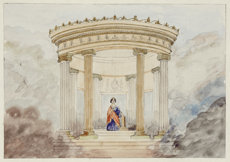 Sketch from Charles Kean's production of Henry V at Princess's Theatre, London
