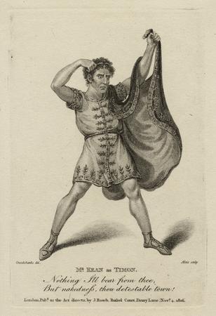 Edmund Kean as Timon
