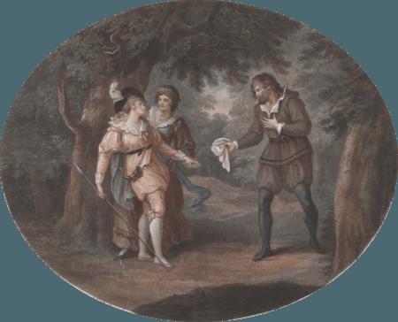 Rosalind, Oliver and Celia