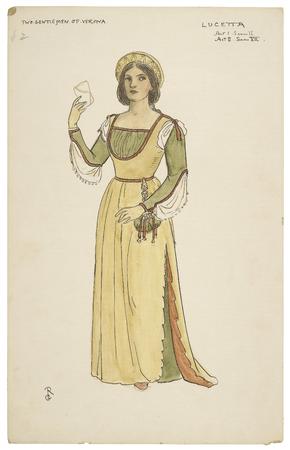 Costume design for Lucetta
