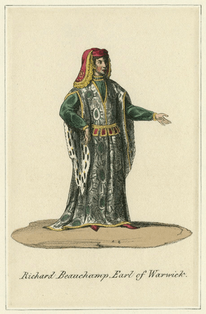 Costume design for Earl of Warwick