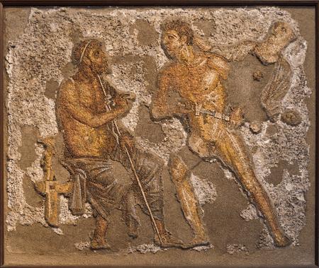 1st century Pompeii fresco of Achilles and Agamemnon
