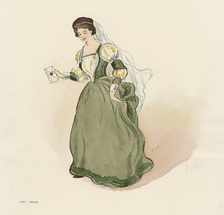 Costume design for Mrs. Page