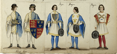 Costume designs for the king's pages