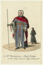 Costume design for the Lord Chief Justice