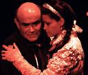 Alex Peckman as the Earl of Warrick and Julie Hughett as Countess of Salisbury