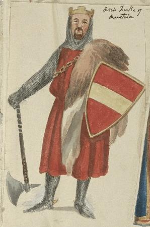 Costume design for the Duke of Austria