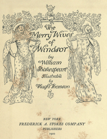 Frontpiece for the James Ballantyne and Co. edition of The Merry Wives of Windsor