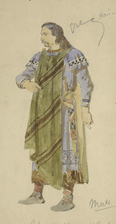 Costume design for the Earl of Gloucester