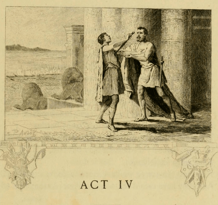 Act header from Duprant & Co. edition of Antony and Cleopatra