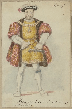 Costume design for King Henry VIII