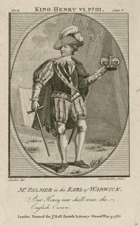 John Palmer as the Earl of Warwick
