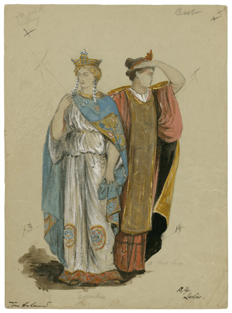 Costume designs for the Viola Allen production of Winter's tale at the Knickerbocker Theatre