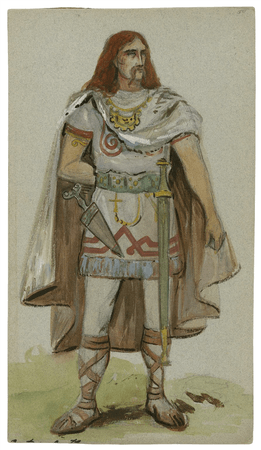 Costume designs for unspecified character in the Viola Allen production of Cymbeline