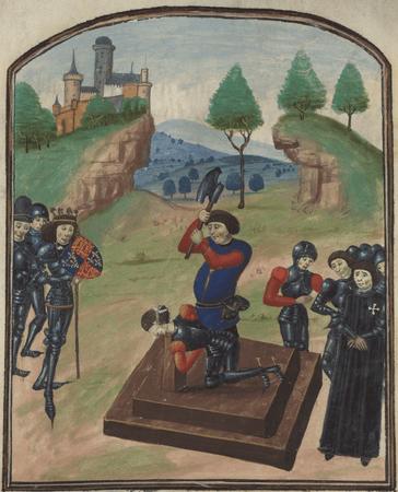 Beheading of the Edmund Beaufort, 4th Duke of Somerset