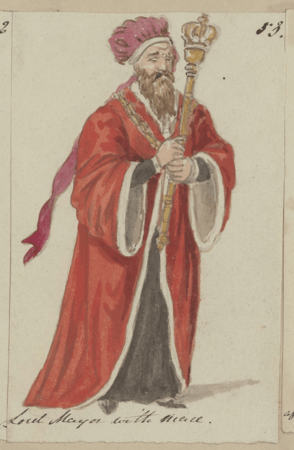 Costume design for the Lord Mayor