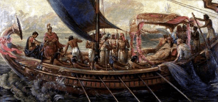 The Flight of Antony and Cleopatra from the Battle of Actium