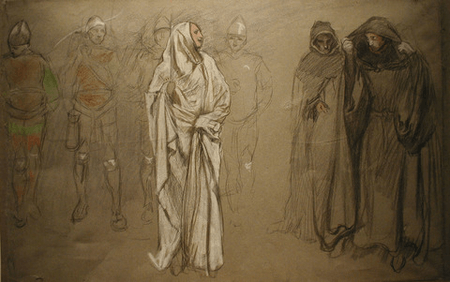 Composition study for the Penance of Eleanor