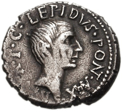 Coin depicting Marcus Aemilius Lepidus