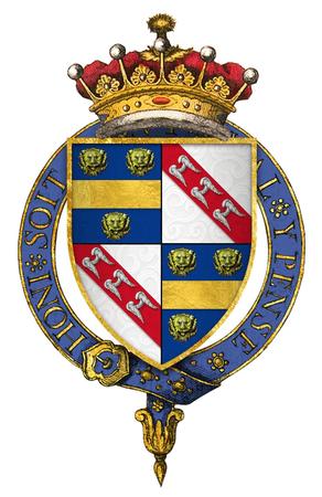 Coat of Arms of Sir William de la Pole, 4th Earl of Suffolk