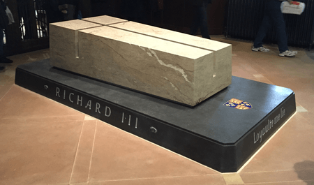Richard III's tomb in Leicester Cathedral