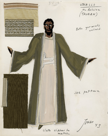 Costume design for Paul Robeson as Othello