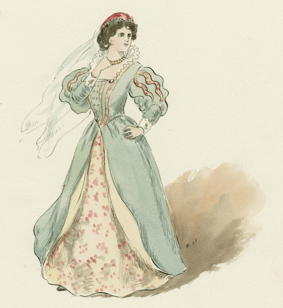 Costume design for Olivia