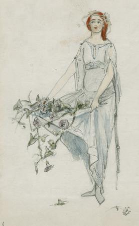 Costume design for Ophelia