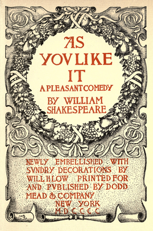 """Frontpiece to 1900 edition of """"As You Like It"""""""