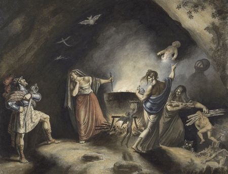 Macbeth in witches cave
