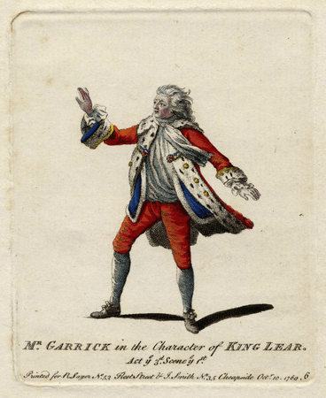 Mr. Garrick in the character of King Lear